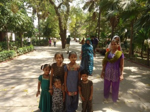 Bunch of children in the ashram